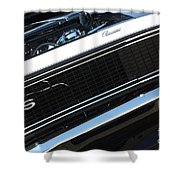 67 Black Camaro Ss Grill-8039-2 Shower Curtain