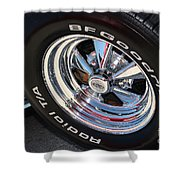 67 Black Camaro Ss Kragar Ta-8039 Shower Curtain