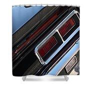 67 Black Camaro Ss Tail Light-8020 Shower Curtain