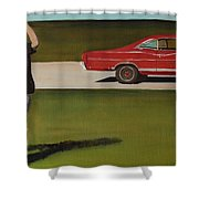 67 Ford Galaxie Shower Curtain