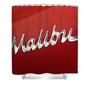 67 Malibu Chevelle Logo -0058 Shower Curtain