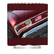 67 Malibu Chevelle Tail Light-0060 Shower Curtain