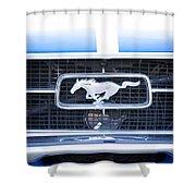 67 Mustang Emblem Shower Curtain