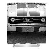 67 Mustang Front In Black Shower Curtain