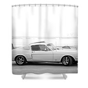 67 Mustang In Black Shower Curtain