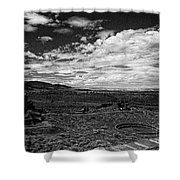 672 Sl Bw Tuzigoot 3  Shower Curtain