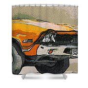 68 Chevelle Abstract Shower Curtain
