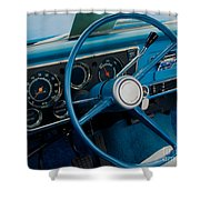 68 Chevy Truck Dash Shower Curtain