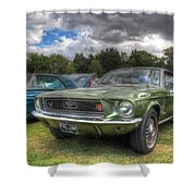 68' Mustang Shower Curtain