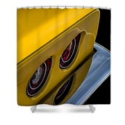 '69 Corvette Tail Lights Shower Curtain