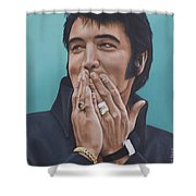 69 Press Conference Shower Curtain