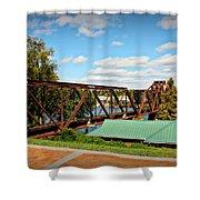 6th Street Bridge Shower Curtain