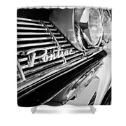 1961 Pontiac Catalina Grille Emblem Shower Curtain