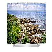 Atlantic Coast In Newfoundland Shower Curtain