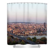 Belgrade, Serbia Shower Curtain