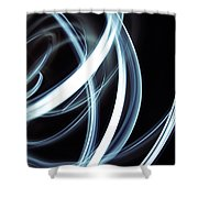 Blue Lines  Shower Curtain