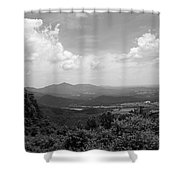 Blue Ridge Mountains - Virginia Bw 2 Shower Curtain