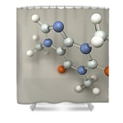 Caffeine Molecule Shower Curtain