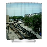 Cta's Retired 2200-series Railcar Shower Curtain
