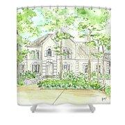 Custom House Portrait  Or Rendering Sample Shower Curtain