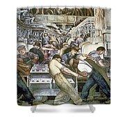 Diego Rivera - Detroit Shower Curtain