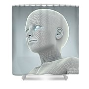 Digital Being Shower Curtain