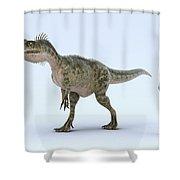 Dinosaur Monolophosaurus Shower Curtain