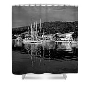 Fiskardo Village Shower Curtain