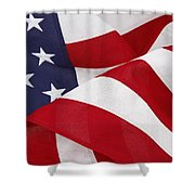 Flag Shower Curtain by Les Cunliffe