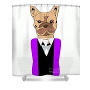 French Bulldog Painting Shower Curtain