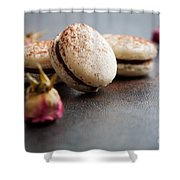 French Macaroons Shower Curtain