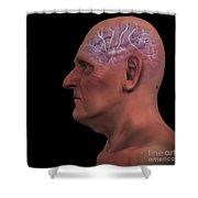 Geriatric Brain Shower Curtain