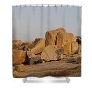 Hampi Landscape Shower Curtain