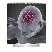 Head Ache Shower Curtain
