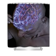 Head Pain Shower Curtain