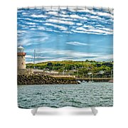Howth Harbour Shower Curtain