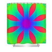 Kaleidoscope Drawing Shower Curtain