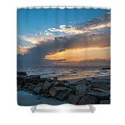 Sc Lowcountry Sunset Shower Curtain