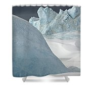 Pack Ice, Antarctica Shower Curtain