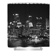 Pittsburgh Skyline At Night Shower Curtain