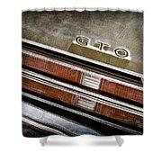1969 Pontiac Gto Taillight Emblem -0475a Shower Curtain