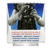 Poster Women Workers Shower Curtain
