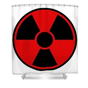 Radiation Warning Sign Shower Curtain