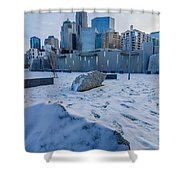 Rare Winter Scenery Around Charlotte North Carolina Shower Curtain