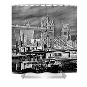 River Thames Art Shower Curtain