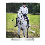 Rocking Horse Stables Shower Curtain