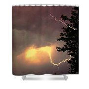 Rounds 2 3 Late Night Nebraska Storms Shower Curtain