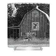 Route 66 - Mule Trading Post Shower Curtain