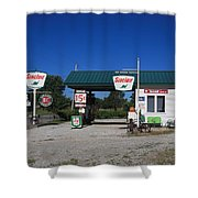 Route 66 Sinclair Station Shower Curtain