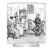 Scene From Pride And Prejudice By Jane Austen Shower Curtain